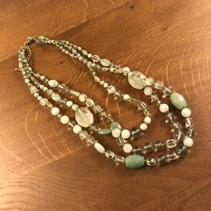 Anthropologie Beaded Multi-Strand Necklace